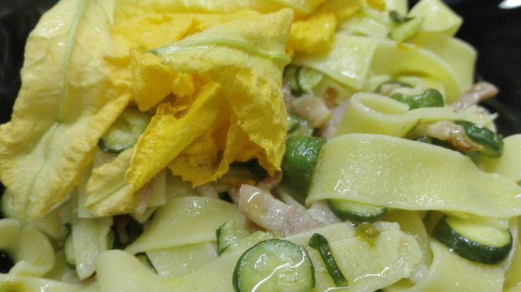 MINI ZUCCHINE fiori e pancetta-il sughetto dell'orto