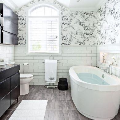Salle de bain de style «nouveau champêtre» - Salle de bain - Inspirations - Décoration et rénovation - Pratico Pratique