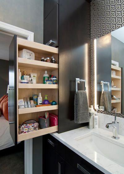 Небольшая ванная комната - особенности систем хранения