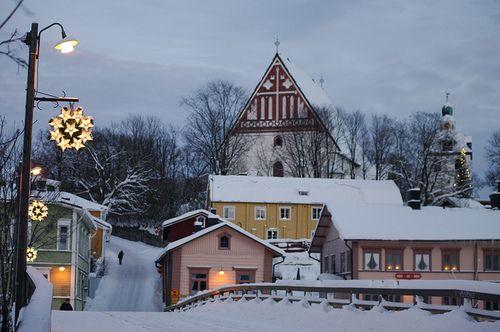 villesdeurope:  Christmas in… Porvoo, Finland