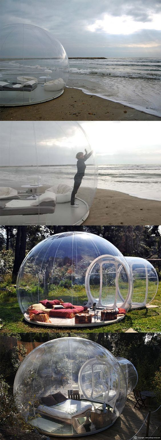 This bubble tent lets you sleep under the stars!