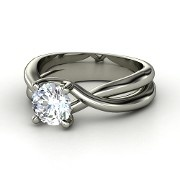 Round Diamond Platinum Ring by Gemvara Essentials. lovee love love love simple, elegant, beautiful!