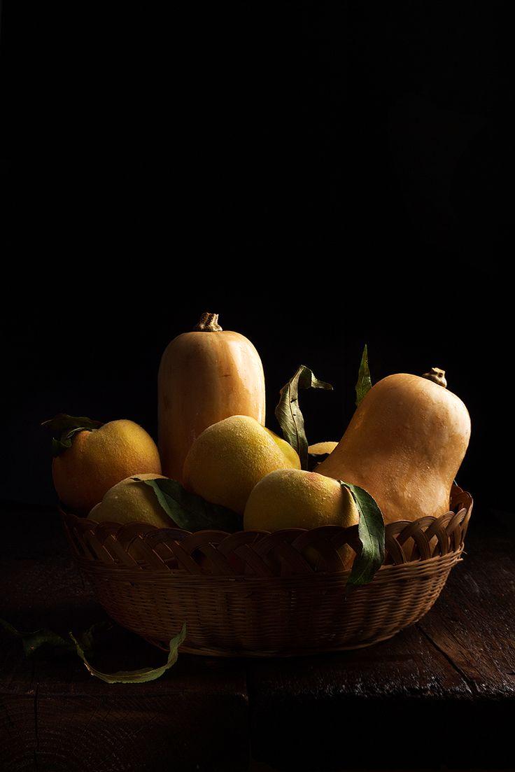 Zucca e pesche - Pumpkin and peaches