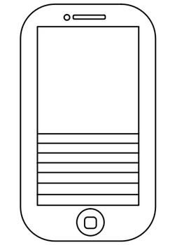 """Use this blank iPhone template for anything! In the beginning of the school year, I had my students create a """"selfie"""" of themselves in the blank space and write their goals for the year on the line. I hung them on a bulletin board called """"Seventh Grade Selfies"""" The students loved it!"""