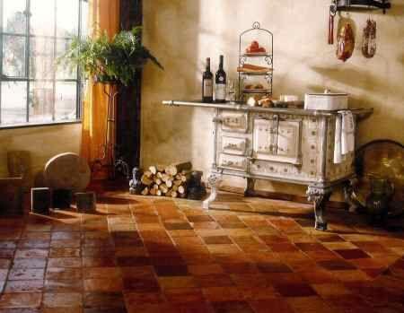terracotta kitchen floor transitional -#main