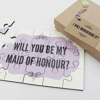 'Will You Be My Maid Of Honour?' Jigsaw