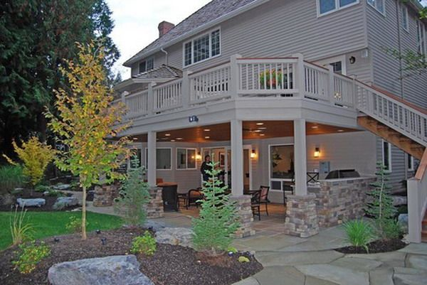 Traditional Under Deck Patio Landscape Ideas - Patio Design Ideas - 7603