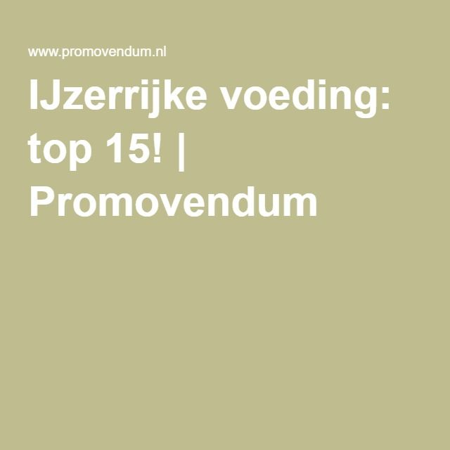 IJzerrijke voeding: top 15! | Promovendum