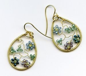 2/08/2015 2:30pm - 6:00pm Melody MacDuffee Floral Crystal Earrings
