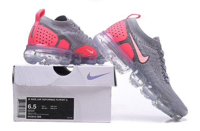 separation shoes f82ec e5bc7 Nike Air VaporMax Moc 2 women s Running Shoes Grey Pink