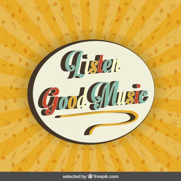 Fondo de escuchar buena música Vector Gratis
