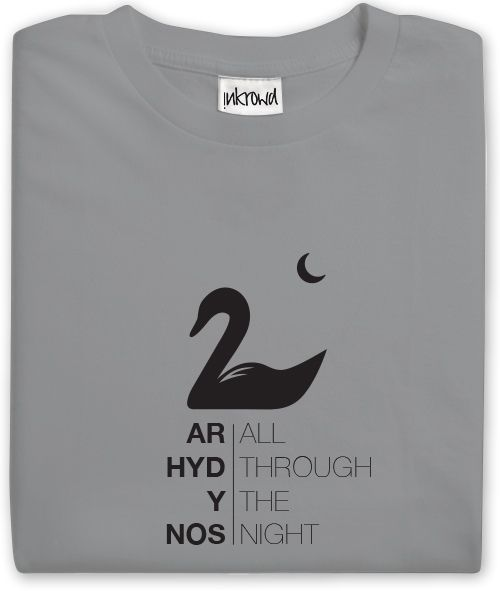 A truly eye-catching, 'All through the night' Swansea City T-Shirt with stylish salute to that iconic Welsh folk song. - See more at: http://www.inkrowd.co.uk/shop/swansea-t-shirt-arhyd/#sthash.5cYMfdhb.dpuf