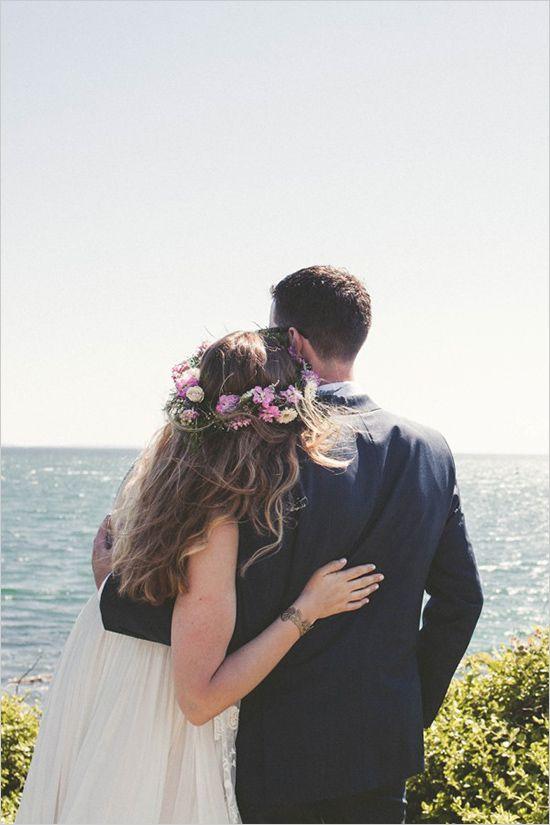 cape cod wedding   east coast wedding   beach wedding   floral halo   #weddingchicks