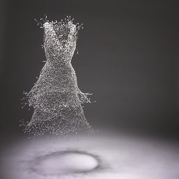 Exquisitely complex wire sculptures by South Korean artist Keysook Geum.