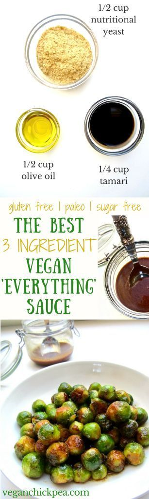 The easiest and most delicious sauce to go with any vegetable, grains or starch. Bonus - each serving has 9g of protein, 4g of fiber and 0 cholesterol! {gluten free, paleo, sugar free, nut free} | http://veganchickpea.com