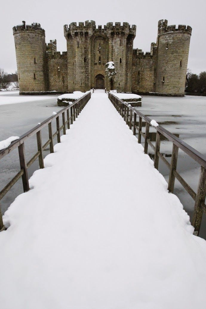 Bodiam Castle ruins in East Sussex 14th Century.