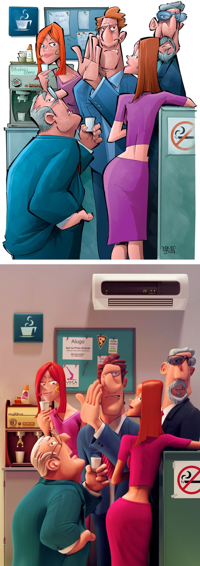 In The Office Illustration - Sounds Familiar?