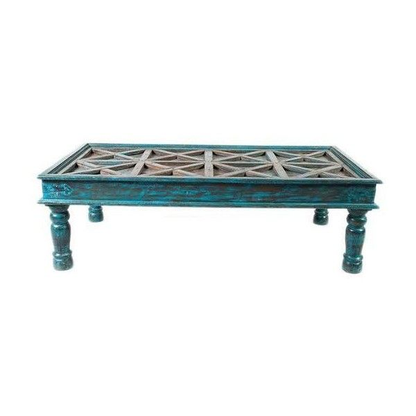Product Description   Blue coffee tables, Teak coffee ...