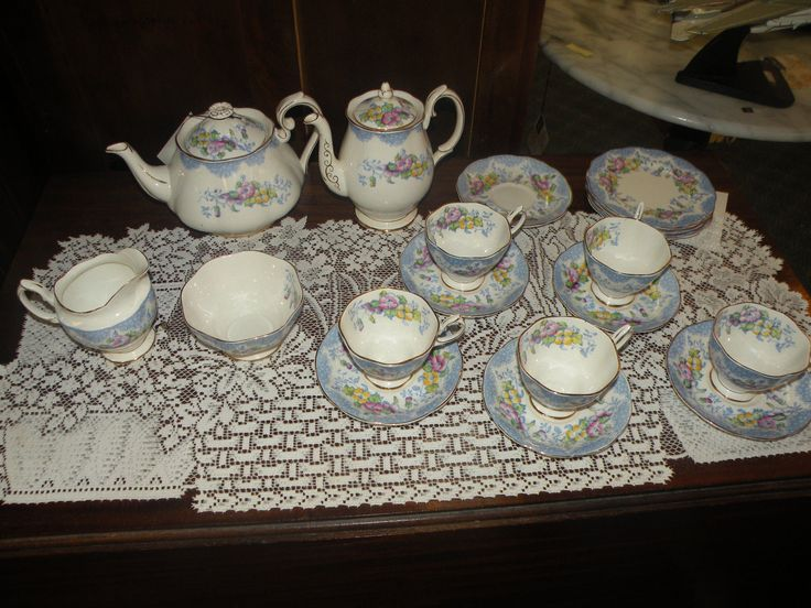 ROYAL ALBERT CHINA TEA AND COFFEE SET in Pottery & Glass, Pottery & China, China & Dinnerware, Royal Albert | eBay