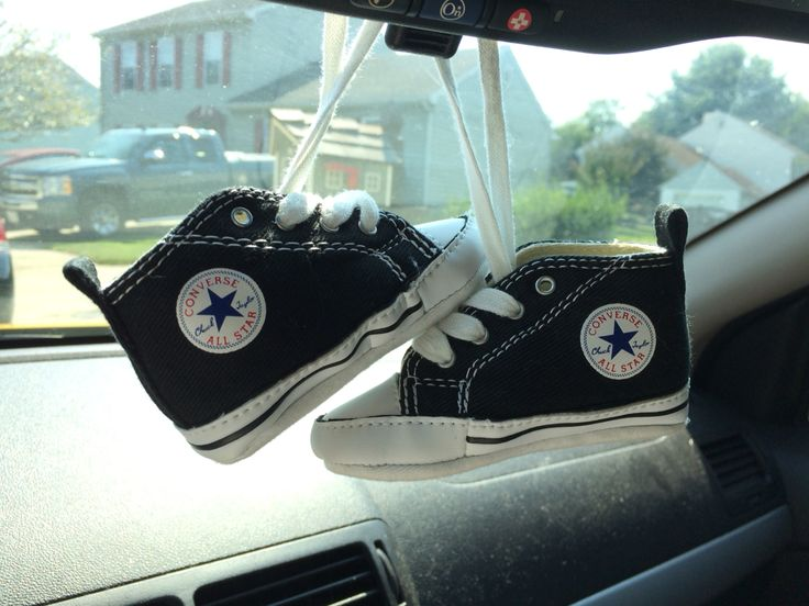 3d Printed Shoes >> Babies first pair of shoes hanging on the rear view mirror | Chuck taylor sneakers, Baby ...
