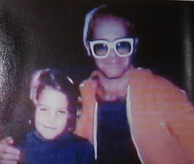 Lisa Marie met her favorite singer, Elton John, for her 7th birthday, arranged by her adoring father 2-1-75