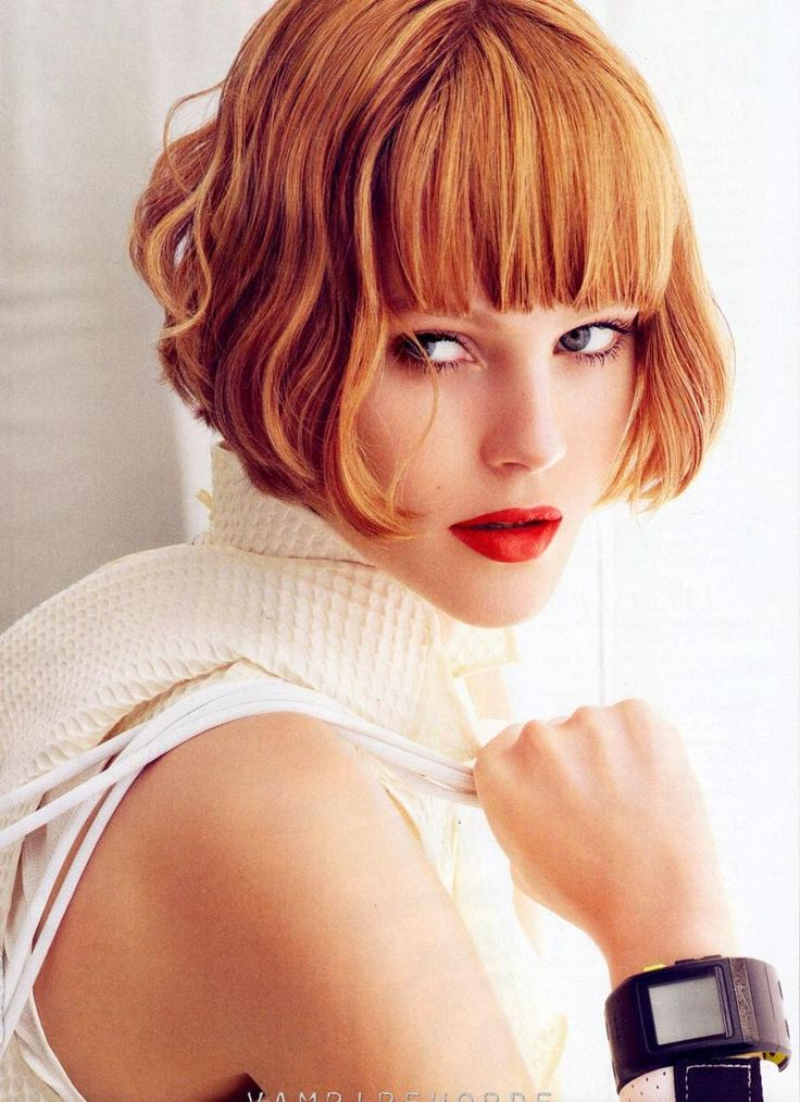 copper bob: Short Hair, Hairstyles, Bobs, Hair Styles, Red Hair, Wavy Bob, Redhead, Haircut, Hair Color