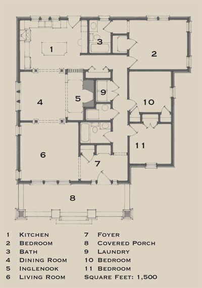 Good Traditional Bungalow Floor Plans With Old Bungalows From The House Journal Three Compact Designs 1000