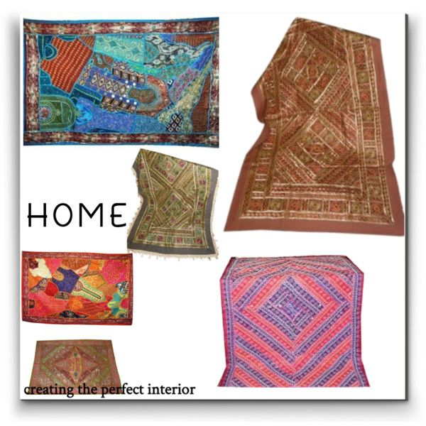 A home decor collage from July 2016 by tarini-tarini featuring interior, interiors, interior design, home, home decor, interior decorating and vintage   http://www.polyvore.com/cgi/set?id=203259683   #Tapestry #Decorative #IndianTapestry #BohemianThrow #Decor #GiftIdea #SariWallHanging #mogulinterior