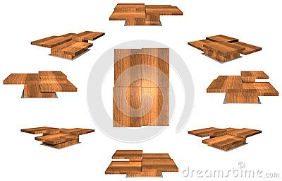 View from all sides of a coffee table. The three dimensional drawing for each side has a dimension of about 2000 * 800 pixels (when the image size is 8818*5638).