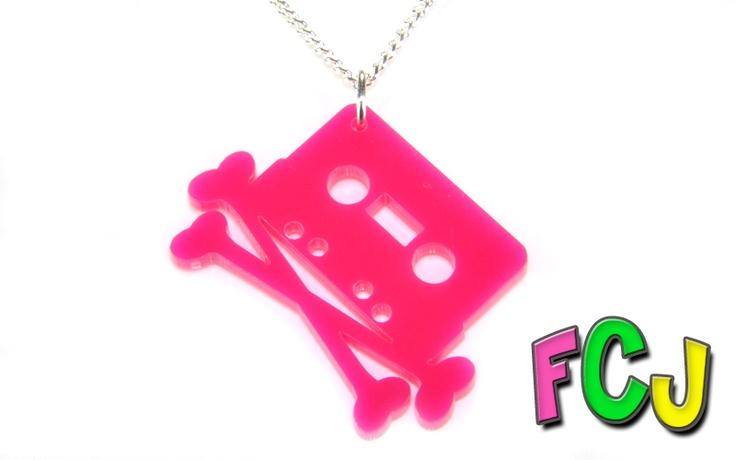 Crossbones Mixtape Necklace
