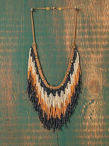 Ombre Seed Bead Collar #fashion #love #style #shopping #poshmark #freepeople #fringe #bohemian