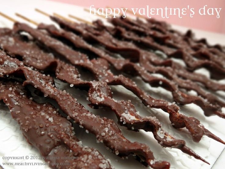 Chocolate covered bacon. Happy Valentine's Day, indeed.