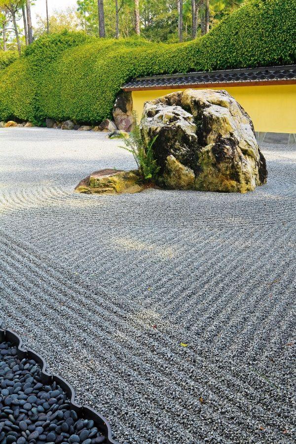 A Japanese rock garden  #japanesegarden #gardentherapy #gardendesign #rockgarden