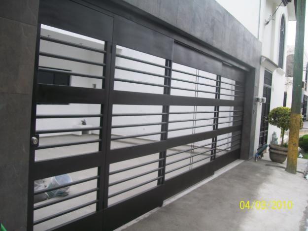 Puerta de herreria herreria pinterest contemporary - Puertas para garage ...
