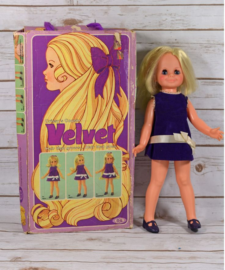 Vintage Ideal Crissy's Cousin Velvet Doll with Damaged Box #Ideal #Dolls