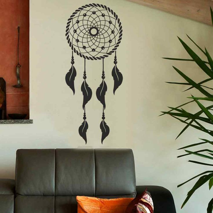 Dream Catcher Wall Decal- Dream Catcher Decal Hippie Native America Boho Dream Catcher Bohemian Bedroom Dorm Living Room Decor