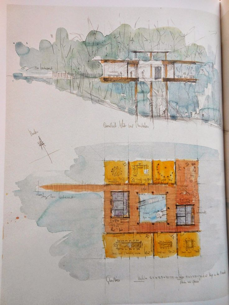 arquitectures234: dibuixos: Peter Zumthor [habitatges per a gent gran XV]