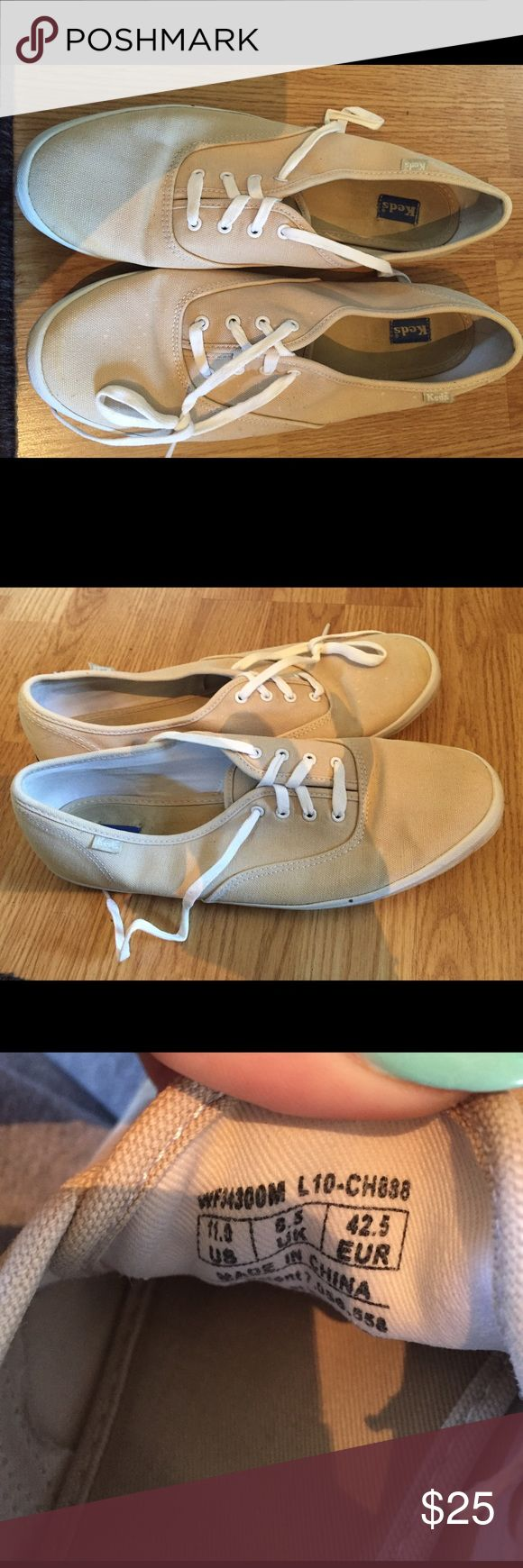 KEDS Champion (cream) - Size 11 Great condition tan Keds! Keds Shoes Sneakers