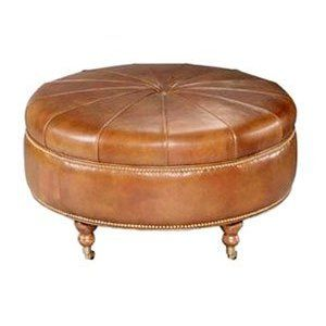 round leather coffee table - Google Search