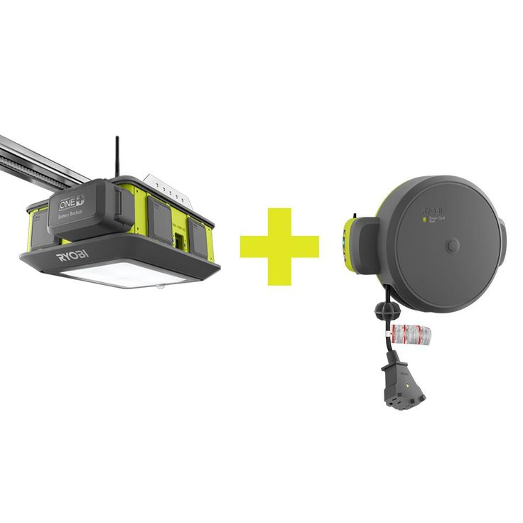 Ryobi Ultra-Quiet Garage Door Opener with Free Retractable Cord Reel Accessory-GD200A-GDM330 - The Home Depot
