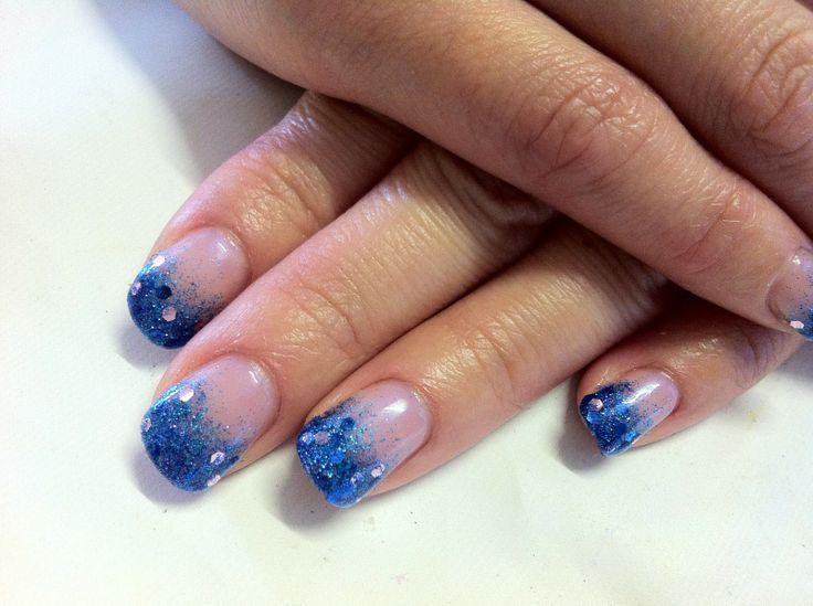 Cnd Shellac Nail Art Glitter Fade Mermaid Style