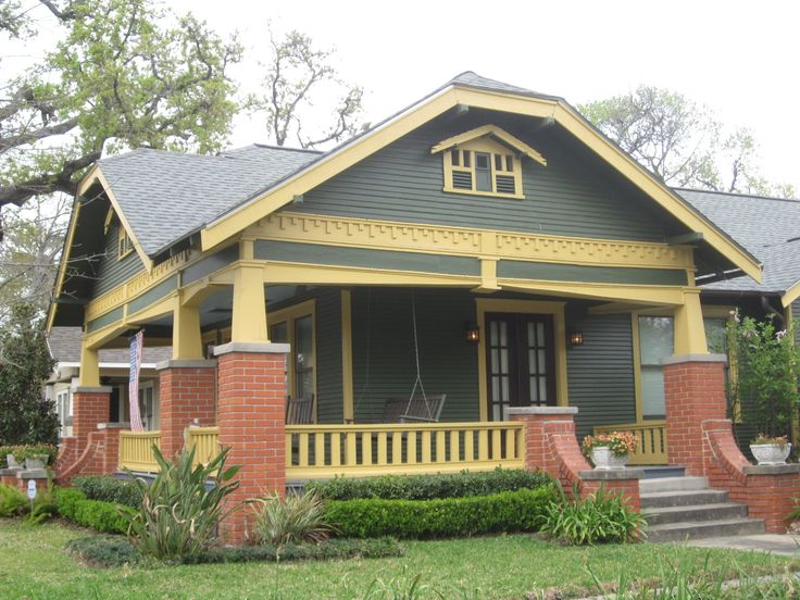 Best Craftsman Homes Images On Pinterest Architecture - Craftsman style exterior house color combinations for homes