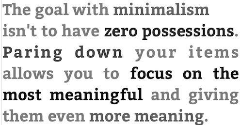 less is more: hoe minder je hebt, hoe meer je waardeert en beseft hoeveel moois, focus on mooiste