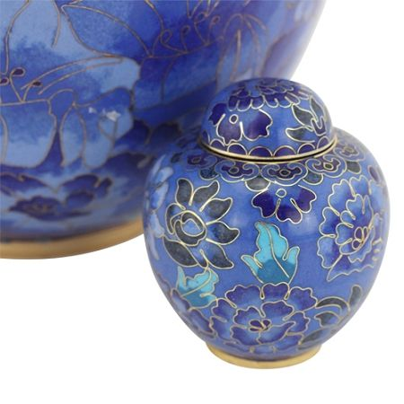 Azure Blue Cloisonne Keepsake Urn | Keepsake Urns for Ashes | Available at Stardust Memorials