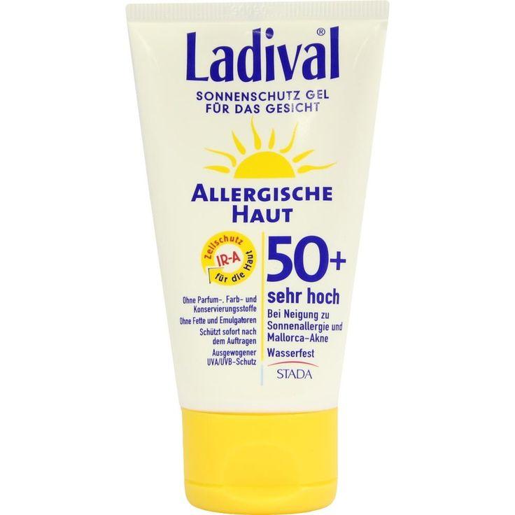LADIVAL allergische Haut Gel Gesicht LSF 50+:   Packungsinhalt: 75 ml Gel PZN: 06913693 Hersteller: STADA GmbH Preis: 11,64 EUR inkl. 19…