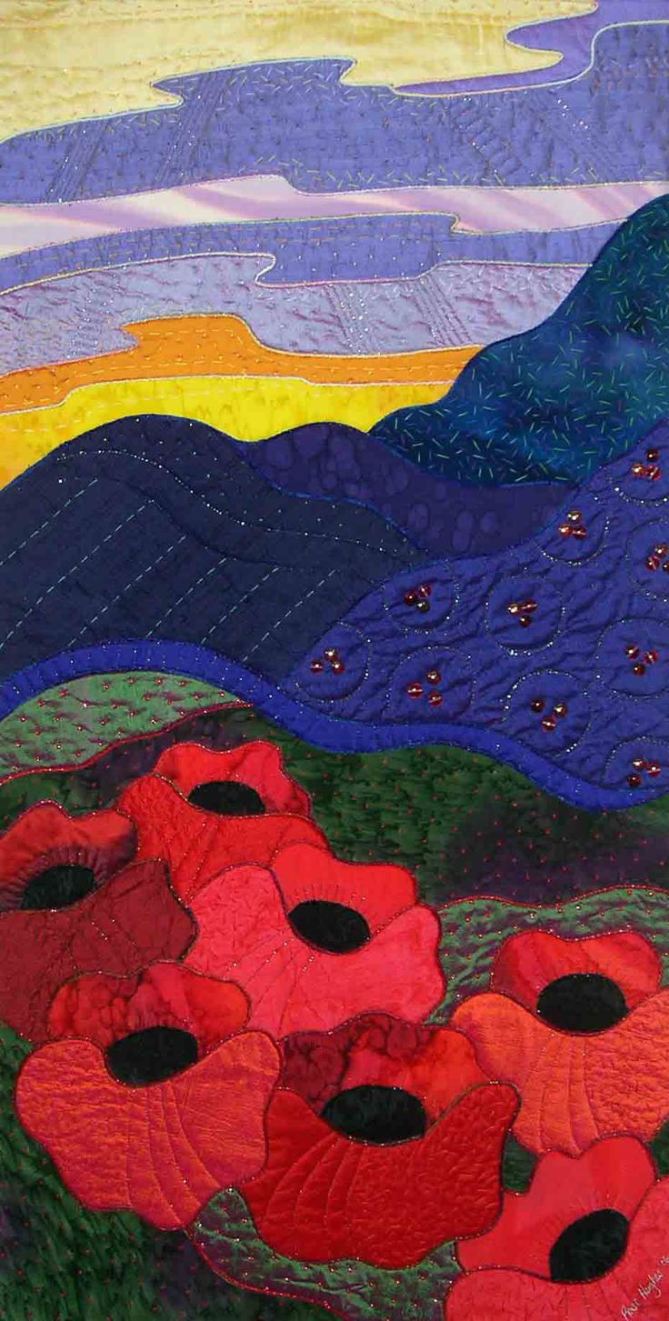 Dream Landscape quilt by Rose Hughes
