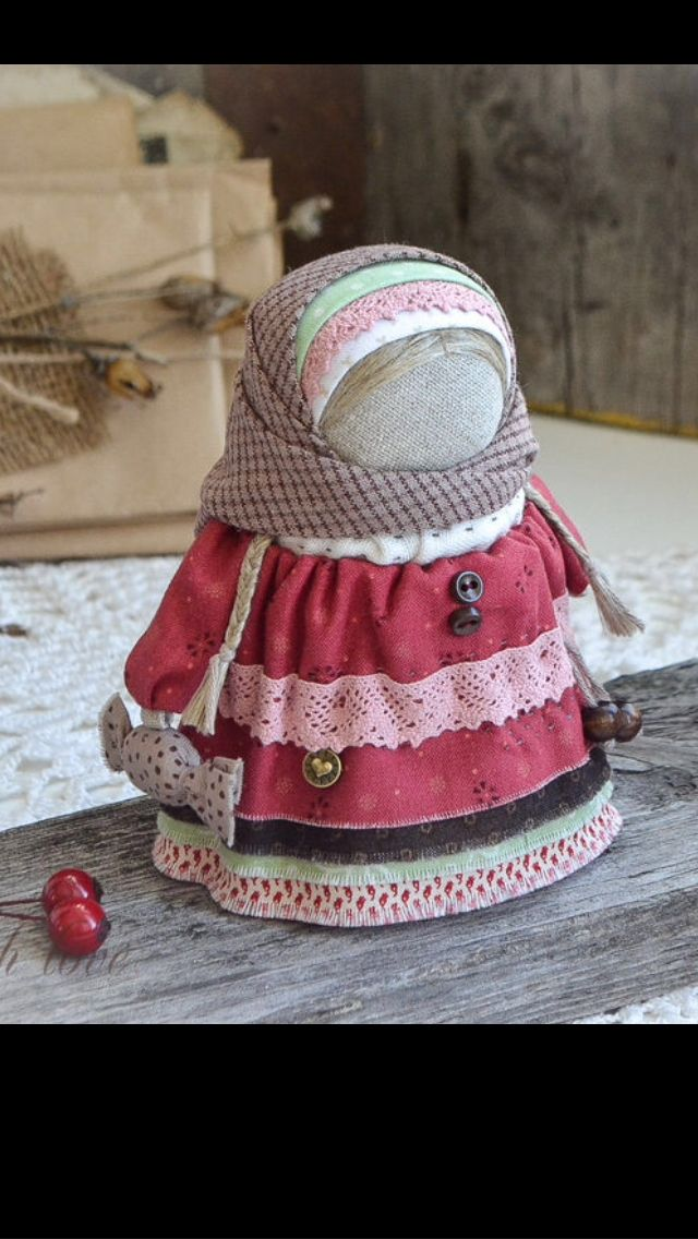 doll with a sweet. traditional Russian doll