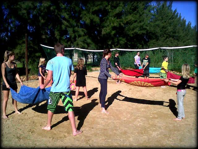 Beach water volley ball fun in the sun!