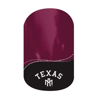 Aggie Nails - nifty back to school nails. Last up to 2 weeks on fingernails and 4 weeks on toenails.