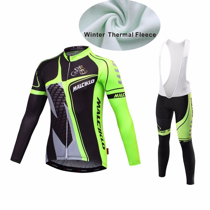 MALCIKLO Ciclism maillot winter thermal fleece cycling jersey long sleeves cycling clothes set Bike Bycycle Clothes #Affiliate